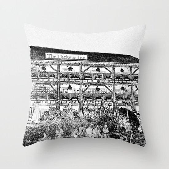 The Dickens Inn Pub London Throw Pillow