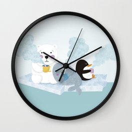 polar coffe Wall Clock