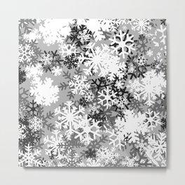 Snowflake Camo Metal Print
