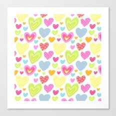 spring hearts Canvas Print