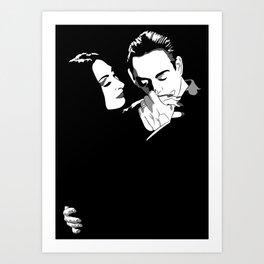 Gomez & Morticia Art Print