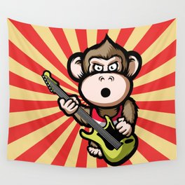 Ape Guitar Wall Tapestry