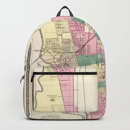 Map of Columbus 1872 Backpack