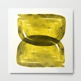 Rustic Hourglass Maze Metal Print