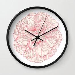 Flower_white Wall Clock