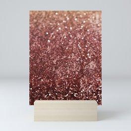 Cafe Au Lait Glitter #1 #shiny #decor #art #society6 Mini Art Print