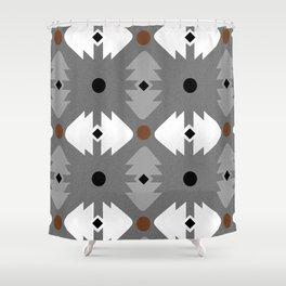 Modern Desert Fox Southwest Pattern Shower Curtain