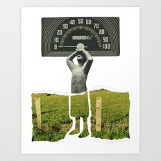 Don't Let The Speed Of Time, Fence You In...... Art Print