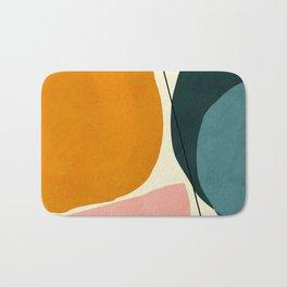 shapes geometric minimal painting abstract Bath Mat