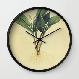 convallaria majali Redoute Roses s Wall Clock