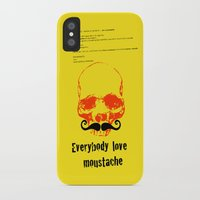 moustache iPhone & iPod Cases featuring Moustache by morganPASLIER