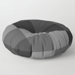 Four Shades of Black Square Floor Pillow