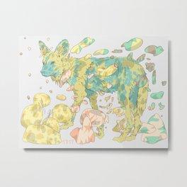 Wondering Dog Metal Print