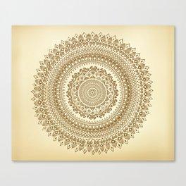 """Henna inspired"" Mandala Illustration Canvas Print"