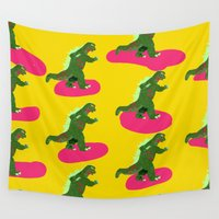 godzilla Wall Tapestries featuring GODZILLA by Mariery Young
