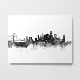 San Francisco Black and White Metal Print