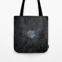 Real snowflake macro photo: Alcor Tote Bag
