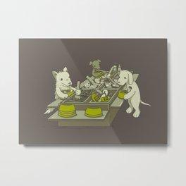 Dog Buffet Metal Print