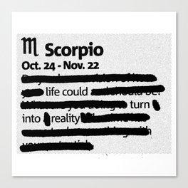 Scorpio 1 Canvas Print
