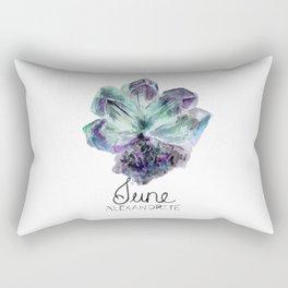June Birthstone | Alexandrite Watercolor Rectangular Pillow