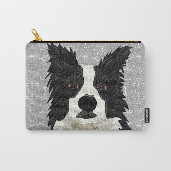Beautiful Border Collie Carry-All Pouch