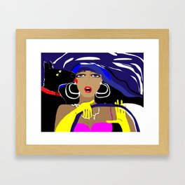 """Driving with my best friend"" Paulette Lust's Original, Contemporary, Whimsical, Colorful Art Framed Art Print"