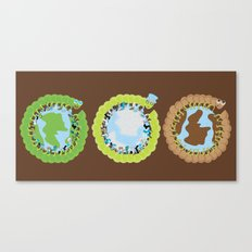 1st World: 2nd World: 3rd World Canvas Print