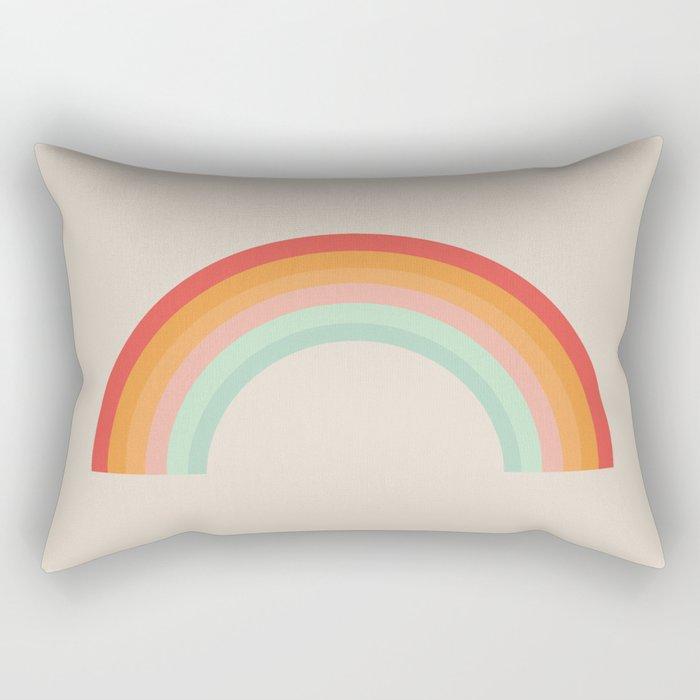 Vintage Rainbow Rectangular Pillow