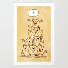 Shout It Out! Art Print