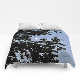 Day Moon Waning Comforters