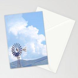"""Blue Windmill Blue Sky"" by Murray Bolesta Stationery Cards"