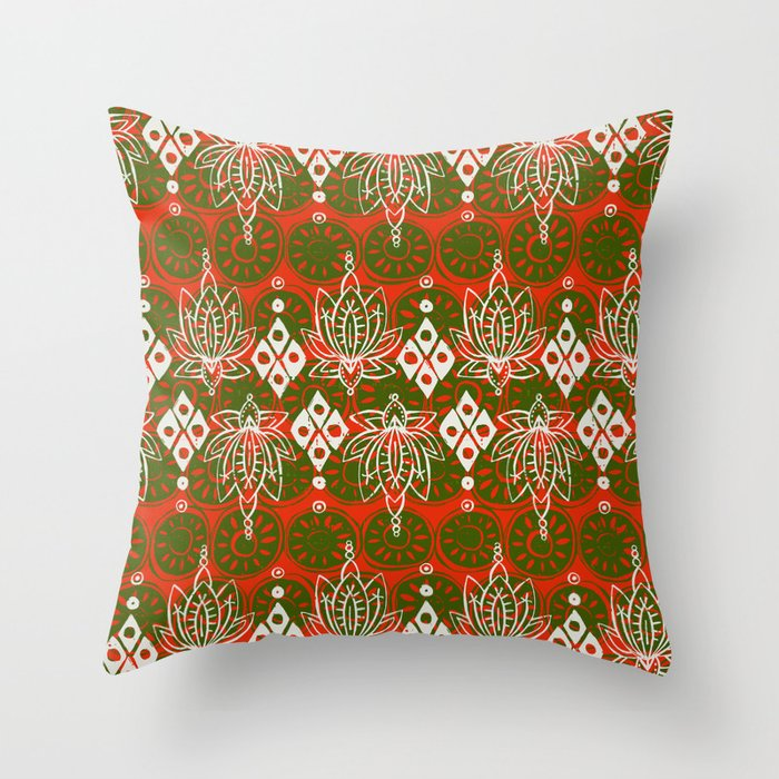 lotus diamond festive Throw Pillow
