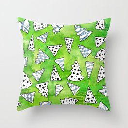 Christmas Tree Cut Outs Throw Pillow