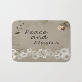 Peace and Music Bath Mat