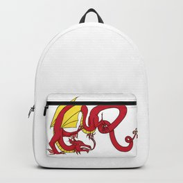 ER Celt Dragon - Red, Yellow Wings Backpack