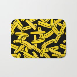 French Fries on Black Bath Mat