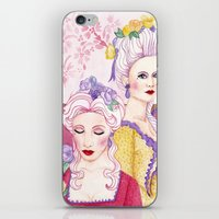 agnes cecile iPhone & iPod Skins featuring Marie & Cecile by artofnadia