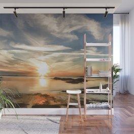 Plum Cove Beach Sunset Painting Wall Mural