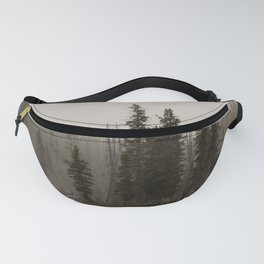 Yellowstone River - Foggy Forest Nature Photography Fanny Pack