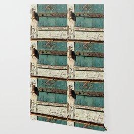Old Wood an Rusty Grunge Barn Door Wallpaper