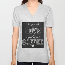 Love and coffee Unisex V-Neck