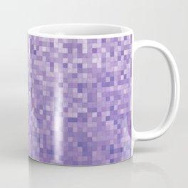 Pixels Gradient Pattern in Purple Coffee Mug