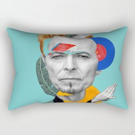 water bowie collage Rectangular Pillow