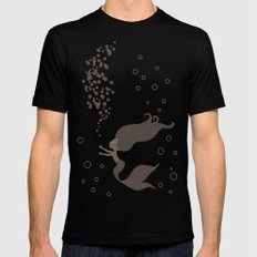 Black Mermaid Black Mens Fitted Tee MEDIUM