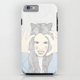 Cat girl iPhone Case
