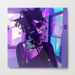 80s cyberpunk Willow Metal Print