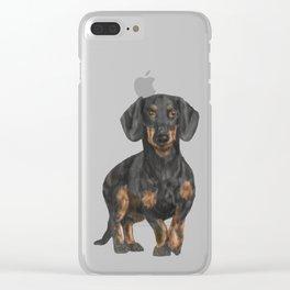 Daschund Clear iPhone Case