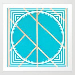 Leaf - circle/line graphic Art Print