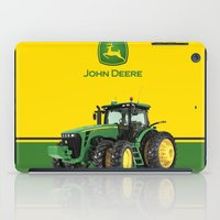 john green iPad Cases featuring John Deere Green Tractor by rumahcreative