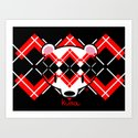 Aaargyle Kuma-chan Red & Blk by curiosityposse